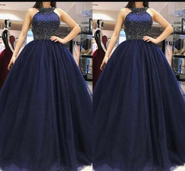 Hot Jewel Neck Prom Party Dresses With Sleeveless Beaded Top A Line Sexy Back Sweep Train Evening Dresses Formal Gowns