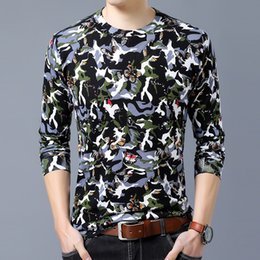 $enCountryForm.capitalKeyWord Canada - Beautiful camouflage printed butterfly pattern fancy pullover sweater Autumn 2018 quality cotton soft elastic sweater men M-XXXL