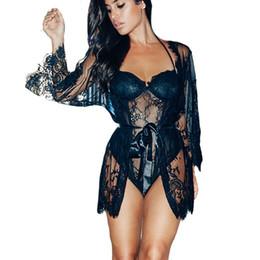 0b3b68e4e1eaf Plus Size Women Nightgowns Sexy Lingerie Hot Sleepwear Bathrobe Transparent Lace  Nightwear Sex See Through Erotic Underwear