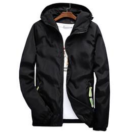 $enCountryForm.capitalKeyWord Australia - 2018 Plus Size Men's Spring Summer Hooded Jacket Waterproof Windbreaker Bomber Jackets Male Casual Jacket Coat Outwear Chaqueta