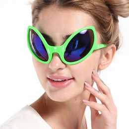 aliens props 2019 - Funny Glasses Elliptical Alien Eye Shape Design Sunglasses For Easter Theme Party Decoration Props Unique Fashion Eyegla