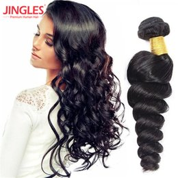 Discount hair jet black 26 inches - 8-26 inch Malaysian human hair bundles loose wave hair extensions 100 unprocessed Virgin Human Hair Bundles wefts Jet bl