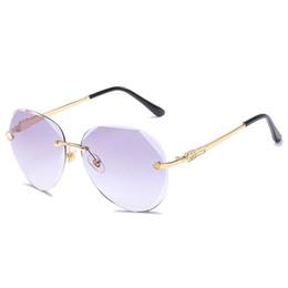 48ed0d8e3ced Sunglasses For Women Fashion Sunglases Womens Oversized Sunglass UV 400  Luxury Sun Glasses Trendy Ladies Rimless Designer Sunglasses 6C5J22
