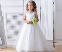 Toddler Special Occasion Australia - Ivory Flower Girl Dress Junior bridesmaid Wedding Baby girl special occasion Baby party dress Birthday toddler lace Formal Occasion