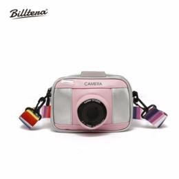 Camera Shoulder Strap Australia - Billtera Contrast Color Shoulder Bag Funny Camera Shape PU Women Messenger Bag Fashion 3D Girls Handbags Rainbow Shoulder Strap