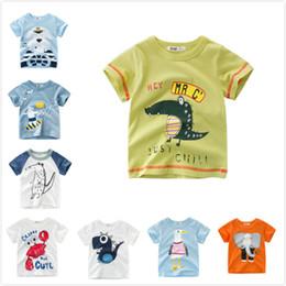 712ebb8a72874e Cheap Summer Baby Boys Kids Tops Tees Dinosaur Crocodile Bird Elephants  Bears T-shirts Animal Clothing 90cm-140cm