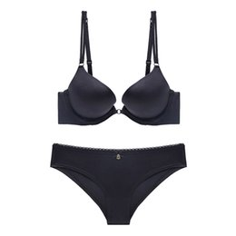 b2e0806b5f80 Brown underwear for girl online shopping - Solid Color Simple Style Glossy  Bra with Push Up