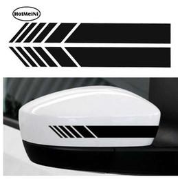 $enCountryForm.capitalKeyWord Canada - HotMeiNi 2pcs Car Styling Auto SUV Vinyl Graphic Car Sticker Rearview Mirror Side Decal Stripe DIY Car Body Decals 15.3*2cm