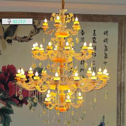 $enCountryForm.capitalKeyWord Canada - Svitz modern 24-arm church Chandelier lustre lamparas Hotel large LED crystal chandelier duplex Floor Villa Hotel Grand chandeliers