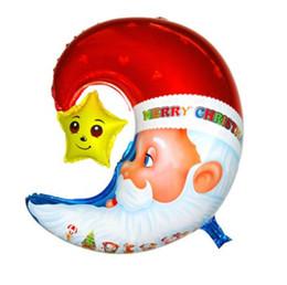 $enCountryForm.capitalKeyWord NZ - 58*54cm Aluminium Coating Film Santa Claus Father Christmas Moon Star Automatic Sealing Balloon for Christmas Party Decoration Supplies