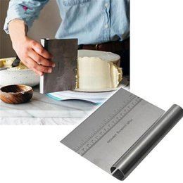 $enCountryForm.capitalKeyWord NZ - Stainless Steel Patisserie Pizza Dough Scraper Cutter Kitchen Tool Cozinha Baking Pastry Spatulas Cooking Cake Decorating Tools