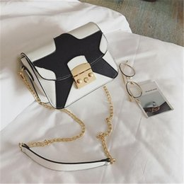 Discount chains for cell phones - fashion bags for girls black and white star crossbody bags single shoulder chain bagsMessenger Bag Wallet Tote Bag