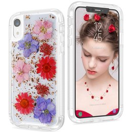 Bumper protection online shopping - Luxury Flower Case for iPhone XS Max Full Body Protection Bumper Rugged Non Slip Protective Case with Dried Real Flower for iphone XR XS
