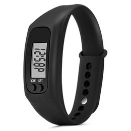 digital lcd watches men 2019 - Run Step Watch Bracelet Pedometer Calorie Counter Digital LCD Walking Distance men relogio masculino erkek kol saati spo