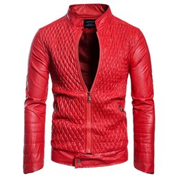 Мужская дизайнер PU кожаная куртка мужская Повседневная Искусственная кожа куртка Осень Зима тонкий пальто Бесплатная доставка