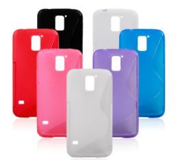 Galaxy S5 Gel Australia - Anti Slip S Line Silicone Rubber Skin Clear TPU Gel Back Cover Case For Samsung Galaxy S5 I9600 TPU Cases Free DHL FEDEX 140