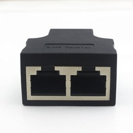 Ethernet Tablets Australia - 300pcs lot RJ45 female to female 1 To 2 Ways RJ45 LAN Ethernet Network Cable Female Splitter Connector Adapter