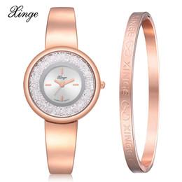 Matching Watches NZ - Watches Women Rose Gold Large Dial Diamond Waterproof  Watch Fashion Luxury Match 709b6cf94