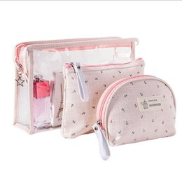 new brand cosmetics 2019 - Best selling 3pcs set storage crown Fashion Brand waterproof PVC cosmetic bag Women Toiletry Bag Travel Up New Organizer