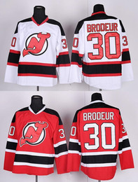 Brodeur Jersey Xl Canada - Factory Outlet, Martin Brodeur Jersey Cheap New Jersey Devils Hockey Jerseys #30 Martin Brodeur Home Red NY Devils Road White Stitched Jerse