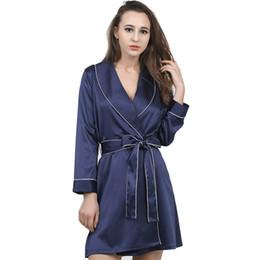 048d7c03e2 Kimono sexy wear online shopping - Sexy Elegant Womens Robe Nightgown Full  Sleeve Silk Women Lingeries