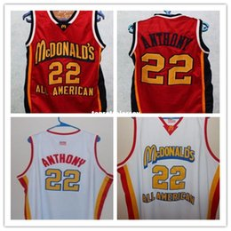 $enCountryForm.capitalKeyWord NZ - Cheap #22 CARMELO ANTHONY Dolphins McDonald ALL AMERICAN high quality basketball jersey #5 BARON DAVIS Retro vest T-shirt Cheap menswear