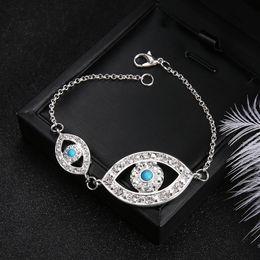 $enCountryForm.capitalKeyWord NZ - DuoTang Classic Link Chain Eyes Bracelets Fashion Silver Color Metal Rhinestone Bracelets Women Jewelry Girls Gift
