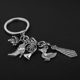 $enCountryForm.capitalKeyWord NZ - TV Jewelry How I Met Your Mother Tie High Heel Shoe Umbrella Pendant Keychain Metal Key Rings Women Handbag Key Holder