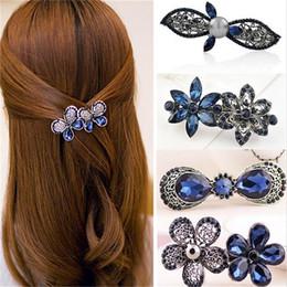 Flower Girl Rhinestone Hair Clips Australia - 2018 New Hot Fashion Women Girl Cute Colorful Shinning Crystal Rhinestones Bows Hairpin Flower Hair Clip Jewelry Wholesale