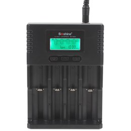 Lifepo4 Li Ion Battery UK - Soshine H4 Universal LCD Charger for Li-ion   Ni-MH   LiFePO4 Batteries LFA_307