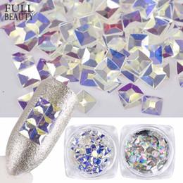 $enCountryForm.capitalKeyWord Canada - Full Beauty 3D Sparkly Transparent Flakes Nail Sequins DIY Diamond Blue Shiny Laser Silver Paillee Nail Glier Decor CH191