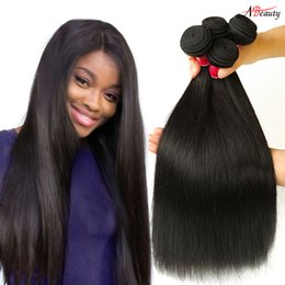 Malaysian Straight Hair Weave Australia - Hot selling Malaysian Virgin Straight Hair Bundles Unprocessed Malaysian Straight Human Hair Brazilian Peruvian Indian Straight Hair Weaves