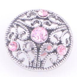 $enCountryForm.capitalKeyWord NZ - Charm Bracelets Silver Snap Fit DIY Snaps Buttons Hollow Rhinestone jewelry 18mm Cheap Ginger Snap Jewelry Leather Bracelets