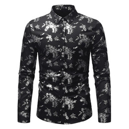 Hot Office Shirts Australia - Chinese Style Vintage Floral Shirt 2018 Hot Sale Flower Print Blouse Mature Man Dinner Party Wear Male Office Casual Blusa Slim