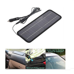 Solar panel for car charger online shopping - Hot V V W Solar Panel Portable Monocrystalline Solar Charger Module For Car Automobile Boat Rechargeable Power Battery