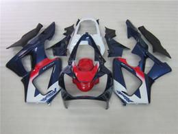 Honda Cbr929 Australia - 7gifts fairings for Honda CBR900RR CBR929 2000 2001 white blue red fairing kit CBR929RR00 01 DF52