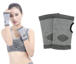 Hand wrap gloves online shopping - Bamboo charcoal Thumb Wrap Hand Palm Gloves Elastic Gym Sports Support Wrist wrap Anti slip gloves Care Brace Support FBA Dropshipping G895Q