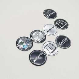 apple logo stickers 2019 - 56mm 4pcs set Mercedes Benz B AMG Apple Tree Carlsson LORINSER Logo Badge Wheel Tires Hub Cap Center Cover Emblem Sticke