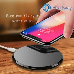 Charger Samsung Quality Australia - 2018 High Quality Universal Qi Wireless Charger For Samsung Note8 Galaxy s7 Edge s8 iphone 8 X mobile pad with package usb cable
