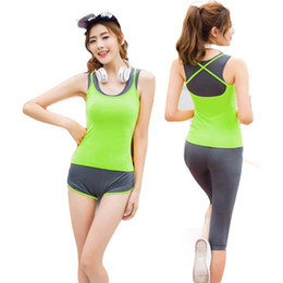 Chinese  Lena Gaga 4pcs Brand Sporting Suit Sporting Wear Girl Summer Sports Wear Women Gym Plus Size Yoga Set Fitness Sports Suit Women manufacturers