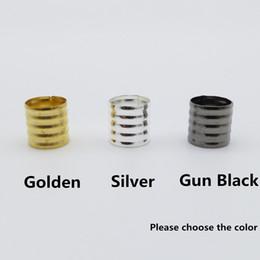 hair guns 2019 - 50Pcs Lot Golden Silver  Gun black 8 16mm hair dread Dreadlock Beads adjustable cuffs clips approx 9mm hole cheap hair g