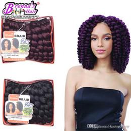 Black Hair Braids Hairstyles Australia - New hairstyle bouncy twist wand curl premium now nubian twist big wave hair weaving crochet braiding twist blended hairstyles for black