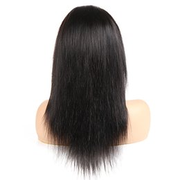 long 18 inch brazilian hair UK - Wholesale Full Lace Human Hair Wigs Straight Brazilian Virgin Hair Vendors Unprocessed Wigs For Black Woman Long Inch Free Shipping