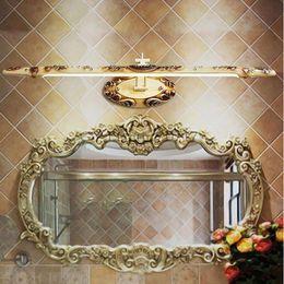 $enCountryForm.capitalKeyWord UK - AC110-240V L50cm L60cm L66cm Vintage Gold LED front mirror light bathroom cosmetic dressing table lamps resin bedside wall lamp