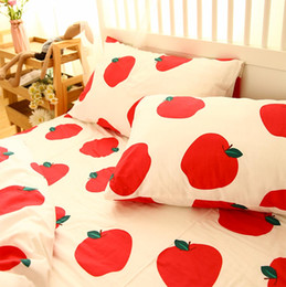 Red Bedding Full Australia - Cartoon red apple carrot bedding sets kid,cotton twin full queen single double home textiles bed sheet pillow cases duvet cover