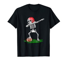 Halloween Costume Football UK - Dabbing Football Halloween Skeleton T Shirt - Costume Gifts