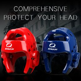 Head Protection Gear Australia - Free Shipping Mma Karate Muay Thai Kick Training Helmet Boxing Head Guard Protector Tkd Headgear Sanda Taekwondo Protection Gear