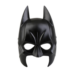 dresses batman Australia - Halloween Batman Mask Adult Black Masquerade Party Carnival Dressing Resin Upper Half Face Mask For Man Cool Face Costume