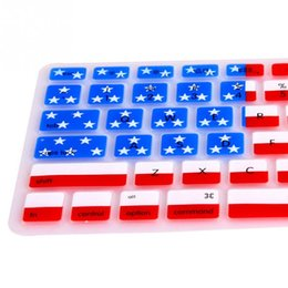 $enCountryForm.capitalKeyWord Canada - Novelty Design US Flag Style Silicone Anti-scratch Stain-proof Keyboard Skin Protective Film For Macbook Pro 13 15 17 inch