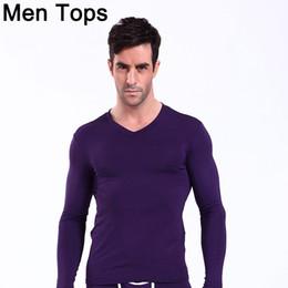 $enCountryForm.capitalKeyWord Canada - Bamboo Mens Thermal Tops Sexy Men Long Sleeve V-Neck Slim Termica T-shirts Gay Warm Winter Sleepwear Calzoncillos Largos Hombre